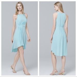 WHBM High Low Ruched Knit Waterfall Dress 6